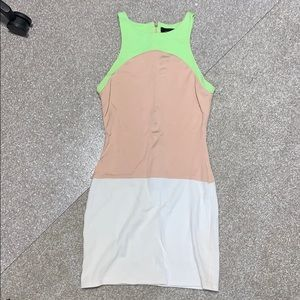 Three tone mini dress